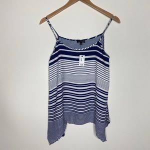NWT the Limited Navy Striped Tank Top